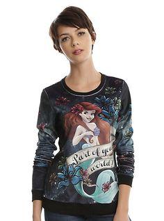 Disney The Little Mermaid Ariel Velour Girls TopDisney The Little Mermaid Ariel Velour Girls Top, BLACK