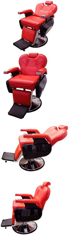 Stylist Stations and Furniture: Red Heavy Duty Fashion Hydraulic Barber Chair Recline Salon Beauty Spa Shampoo -> BUY IT NOW ONLY: $249.85 on eBay!
