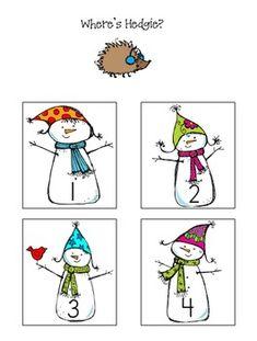 Free kindergarten winter worksheets worksheets for a for Snowman pocket tissues