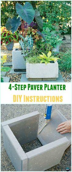 DIY Concrete Planter Ideas Projects [Picture Instructions] - All About Gardens Concrete Planter Boxes, Backyard Planters, Diy Concrete Planters, Diy Planter Box, Concrete Garden, Large Planters, Diy Planters, Planter Ideas, Backyard Ideas