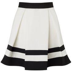 Ariana Grande For Lipsy Stripe Mini Skater Skirt (205 BRL) ❤ liked on Polyvore featuring skirts, mini skirts, flared skirt, striped skirt, circle skirt, lipsy and skater skirt