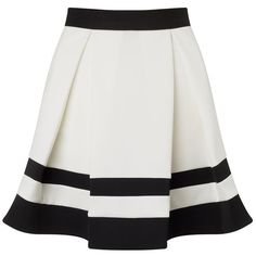 Ariana Grande For Lipsy Stripe Mini Skater Skirt ($55) ❤ liked on Polyvore featuring skirts, mini skirts, bottoms, saias, skater skirt, striped skater skirt, circle skirt, striped mini skirt and flared skirt
