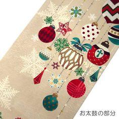 【楽天市場】【送料無料】正絹 染京袋帯 お仕立て上り WA・KKA ワッカ クリスマス オーナメント ベージュ 赤 緑 雪 結晶 かわいい おしゃれ カジュアル 着物用 きもの 小紋 おでかけ着 帯 日本製 名古屋帯 一重太鼓 染め帯:おしゃれ kimono いろは