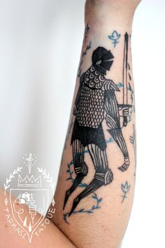 Knight tattoo by Tarmasz.