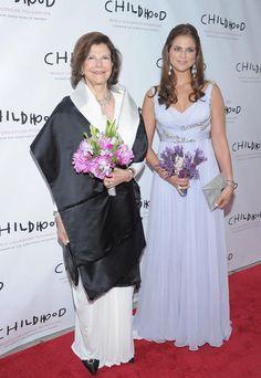 Prinzessin Madeleine von Schweden with her mother Queen Silvia