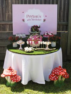 very cute dessert table for little girl's party