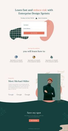 Mason - One Page templates by Lucie Bajgart in Mason templates on Dribbble Minimal Web Design, Site Web Design, Website Design Layout, Homepage Design, Wordpress Website Design, Web Design Trends, Layout Design, Ui Design, Graphic Design