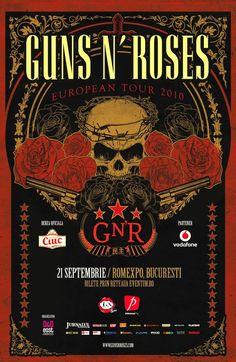 Guns 'n' Roses - European Tour 2010 - Mini Print