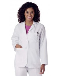 "2-Button Consultation 28"" Lab Coat"