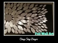 (126) DIY: Foil Wall Art Home Decor - Dollar Tree - YouTube