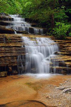 spring falls - Buffalo National River wilderness near Jasper, Arkansas.