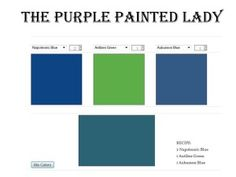 """Have you wanted to try to mix a custom color using your Chalk Paint® decorative paint by Annie Sloan....but were hesitant to do so in fear you would waste your paint?  That is a valid concern, so The Purple Painted Lady wanted to do something to help you ...please check out our Virtual """"Custom Color Mixer"""""""