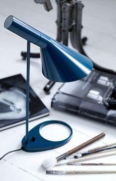 "missdesignsays: ""AJ lamp from Louis Poulsen, designed by Arne Jacobsen in 1960 for the SAS Royal Hotel in Copenhagen (Radisson Blu). The light contributed to the total design concept of the hotel. Arne Jacobsen Lampe, Design Light, Lighting Design, Desk Lamp, Table Lamp, Danish Design, Modern Design, Blitz Design, Led Lampe"