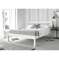Happy Beds Grace 4ft6 Double White Wooden Bed Frame