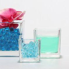 Mini vase cube en verre 10x10 cm