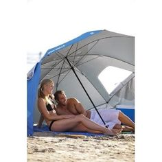 Beach Tent Umbrella Portable Sun Protection Sporting Outdoor Yard Canopy Blue. #SportingGoods