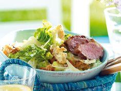 Caesar's Salad mit gegrillter Entenbrust