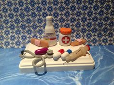 Polymer clay business card holderpharmacist by NaomisSweetStuff, $30.00