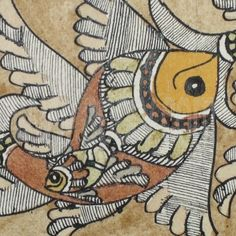 Madhubani painting is an ancient style of Indian art from the region of Bihar. Painting is done with fingers, twigs, brushes, nib-pens, and matchsticks, using natural dyes and pigments.