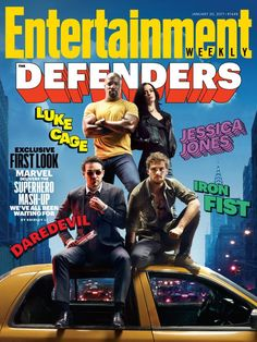 Entertainment Weekly Cover Offers First Look At Marvel And Netflix's Defenders