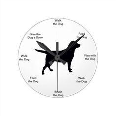 Dog Time Wall Clock