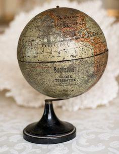 Vintage Globe, Vintage Maps, Antique Maps, Vintage Antiques, Globe Decor, Globe Art, Map Globe, Star Chart, World Globes