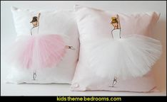ballerina Pillow Cover Ballerina Cushion Nursery Decor Pink Pillow Accent Pillow for Kids Room and babies