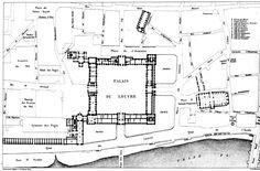acidadebranca: Black, White & Grey Plans Palace of Louvre Classical Architecture, Architecture Plan, Rivoli, Louvre Palace, Ground Floor Plan, Rue, Interior And Exterior, Black White, Floor Plans