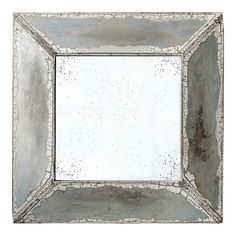 32'' Rustic Wall Mirror, Silver