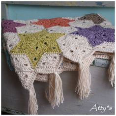Atty's Star Blanket using wool by Stone Washed XL