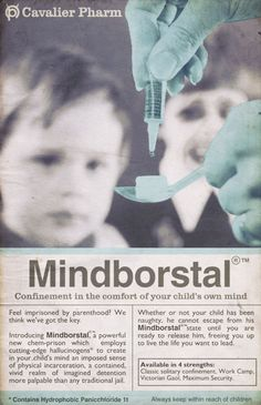"Scarfolk Council: ""Mindborstal"" Psychological Detention Drug"