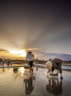 salt fields in Hon Khoi, Khanh Hoa Province, Vietnam