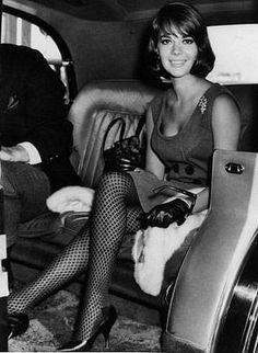 Natalie Wood & fishnets. love it.