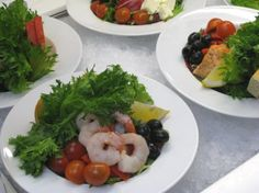 Ready made salads in Daily Special Café & Restaurant in Tallinn.