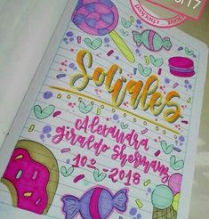 Notebook Binder, Notebook Covers, Bullet Journal Titles, Cute Frames, Bubble Letters, School Notebooks, Cute School Supplies, Decorate Notebook, Hand Lettering