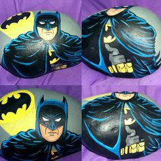 This listing is for a 100% hand painted rock of Batman of Dc Comics. All of my rocks are painted using high quality acrylic paints onto a white carribbean beach stone. They are then coated in a clear glossy enamel. I take my time with every creation to ensure quality and detail. Each rock can take up to 3- 12 hrs. depending on the complexity or size. Sometimes the smallest of rocks take the longest.