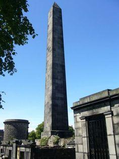 Political Martyrs' Monument, 1844 by Thomas Hamilton  - Old Calton Cemetery, Edinburgh.
