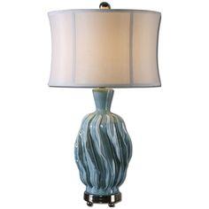 Uttermost Amoroso Blue Ceramic Lamp 27448-1