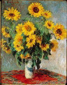Claude Monet, french impresionist, 1840-1926. Sunflowers.