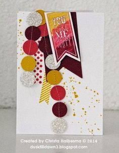 Christa Halbesma dusktilldawn3.blogspot.com Stampin' Up! Gorgeous Grunge Perfect Pennants