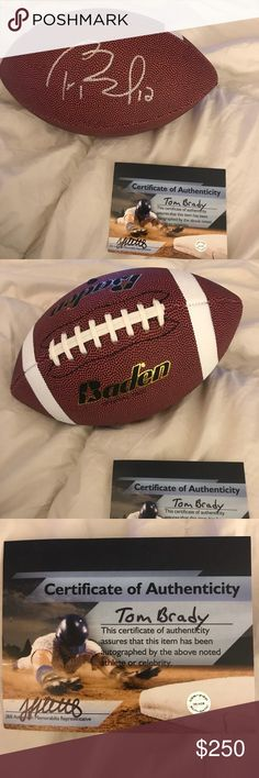 Tom Brady signed Football! Has with COA, Patriots! My ex boyfriend is obsesseddddd with Tom Brady and the New England Patriots. He decided to cheated decided to cheat, so I'm selling this Football. Authentic, Comes with a certificate of authenticity included. I just need this GONE! Please make any reasonable offers. Thanks! Other