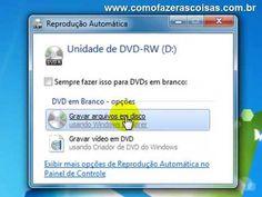 Como gravar CD / DVD - Sem Programas - YouTube