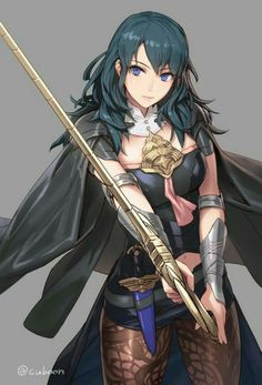 Anime picture fire emblem fire emblem: fuukasetsugetsu nintendo byleth (female) byleth mismi long hair single tall image blush looking at viewer blue eyes breasts fringe simple background hair between eyes blue hair standing holding signed 609086 en Fire Emblem Characters, Fantasy Characters, Female Characters, Fire Emblem Fates, Character Concept, Character Art, Character Design, Pichu Pokemon, Estilo Anime