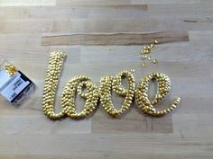 Dollar Store Crafts   Letter Art with Thumb Tacks - DIY Projects   Craft Projects   DIY Ready