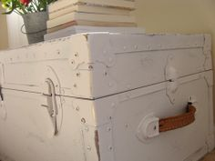 Something Ivory: DIY Leather Trunk Makeover