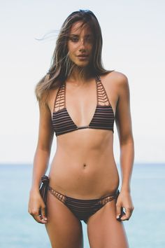 ACACIA Swimwear 2016 Secrets Top in Dark Classic from Society Bikini Hawaii