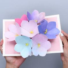 DIY Blooming Flowers Card