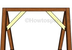 This step by step woodworking project is about free a-frame swing plans. I have designed this small outdoor swing frame, so you can make one for your kids. A Frame Swing Set, Swing Set Plans, Playroom Design, Kids Room Design, Popular Woodworking, Diy Woodworking, Contemporary Toys, Michigan, Girls Bedroom Furniture