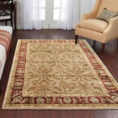 "Only at Walmart $179.88  FREE shipping FREE pickup Size: 7'10"" x 10'10"" Better Homes and Gardens Karachi Olefin Rug, Bisque"