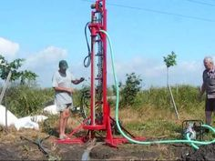 Water well drilling rig part2 - Instalatie forat puturi de apa - YouTube